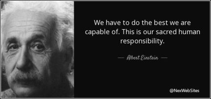 We have to do the best we are capable of - quote