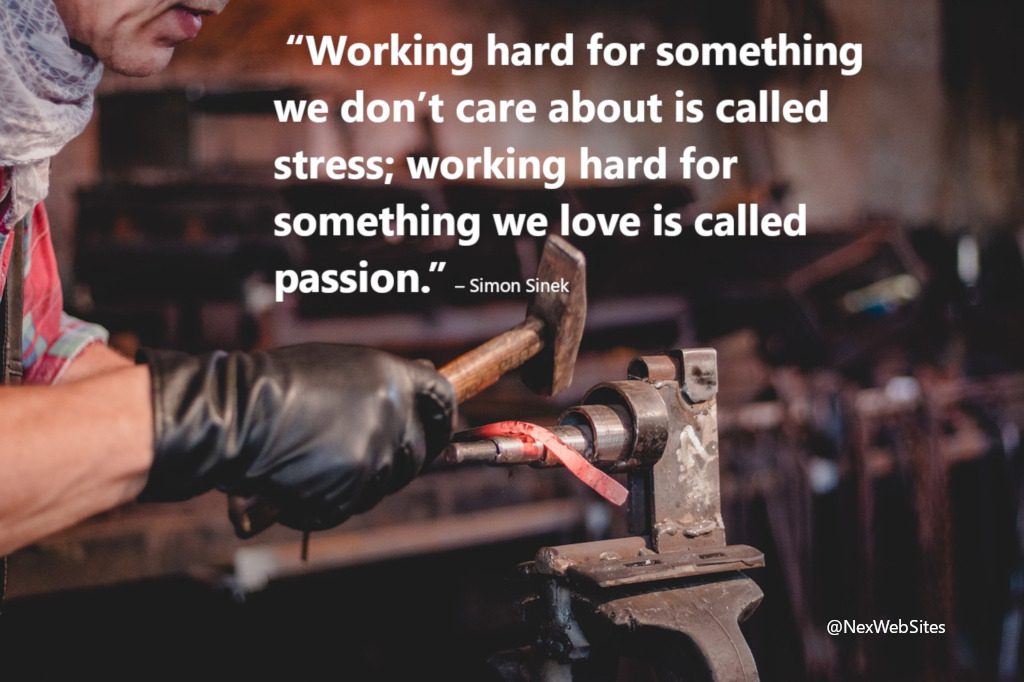 Working hard - quote